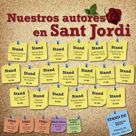 Nuestros autores en Sant Jordi en Barcelona