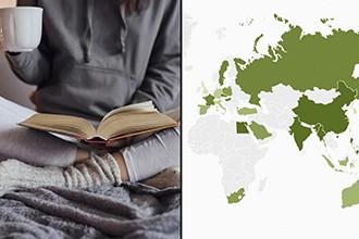 ¿Cuáles son los países con más lectores?