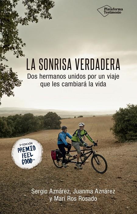 Los hermanos Sergio y Juanma Aznárez y su madre Mari Ros Rosado ganan la tercera edición del Premio Feel Good