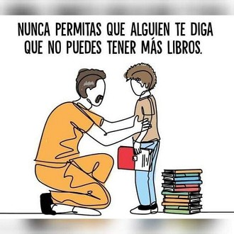 Nunca permitas que alguien te diga que no puedes tener más libros