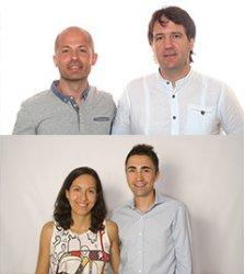 Xavi Cañellas, Jesús Sanchis, Xavier Aguado y Lucía Redondo